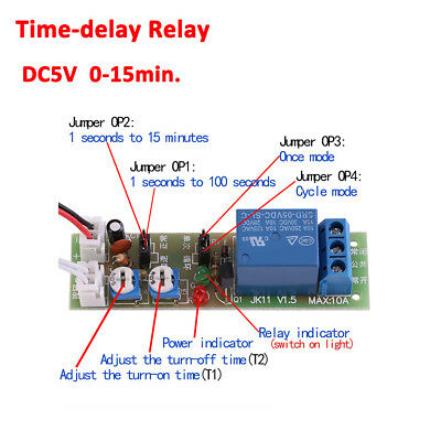 DC 5V/12V/24V Infinite Cycle On Off Timer Delay Relay Loop Timing Module Board