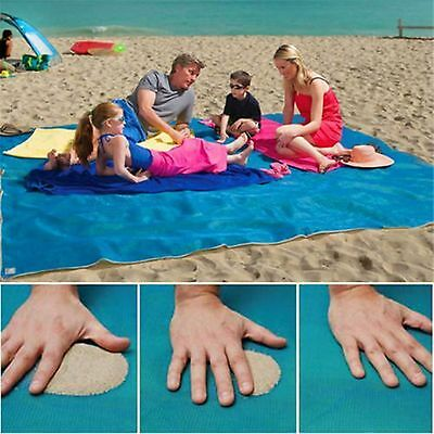 Magic Sand Free Beach Mat Camping Outdoor Picnic Large Mattress Blanket Pad Bags