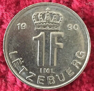 Luxemburg Luxembourg 1 Francs 1990