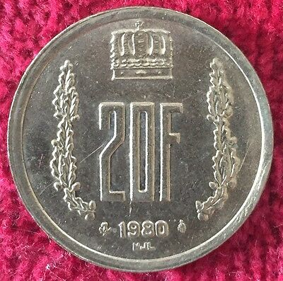 Luxemburg Luxembourg 20 Francs 1980