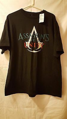 Assassin's Creed Unity t-shirt black size extra large video game *****NEW*****