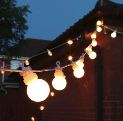 Outdoor Light Chain Set 240V Daisy String Lights Bulbs Garden Bright Dimmable