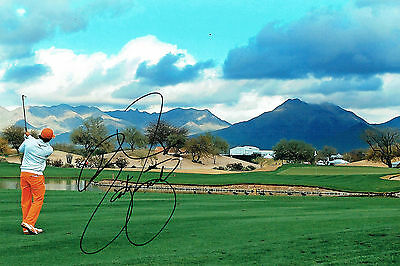 Rickie FOWLER SIGNED Autograph 12x8 Photo 1 AFTAL COA Golf USA Ryder Cup Player