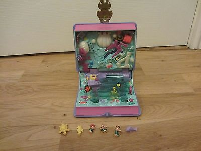 Vintage 1995 Polly Pocket Sparkling Mermaid Adventure Book Compact Lights & Figs