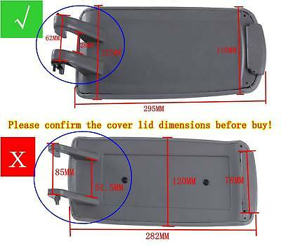 For Audi A4 B7 A4L 04-07 Gray PU Leather Center Console Armrest Cover Lid