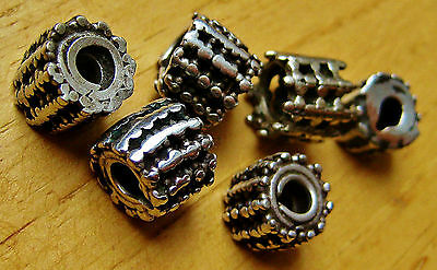 6 Antique Silver Beads From Tribal Yemen