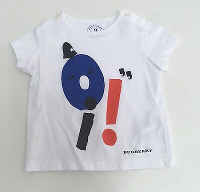 Burberry Boys White T-Shirt - 9 Months - Immaculate Condition