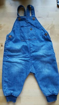 Zara Baby Boy Lined Dungarees  3-6 Months Very Good Condition
