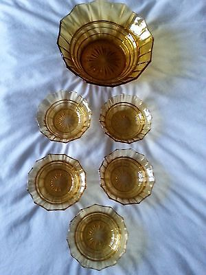 Glass bowl set in Amber colour (collection TW7)