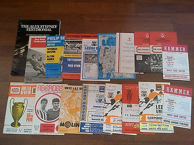 x18 British v Foreign 1960s 1970s ECWC Fairs UEFA Euro Cup Programme Collection