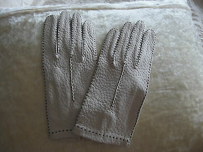 vintage leather gloves top stitched detail