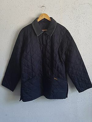 Barbour Men`s Liddesdale Quilted Navy Blue Jacket Size S