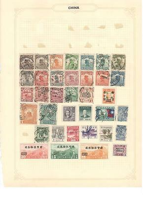 hx12 China album page 36 stamps mixed condition