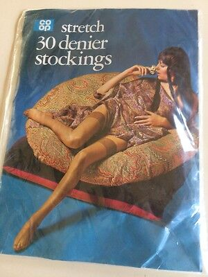 Vintage Stretch Stockings Size Large