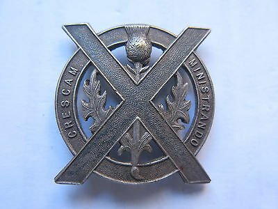 SEYMOUR COLLEGE BADGE c1930s IN SILVER by SCHLANKS ADELAIDE SCOTTISH THISTLE