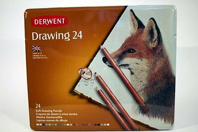 Derwent Coloured Drawing Pencil 24 Tin New