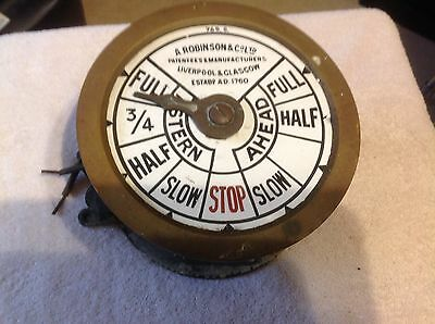 Vintage A.robinson Liverpool Ships Marine Engine Order Telegraph