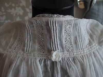 antique baby dress lace hem detail christening