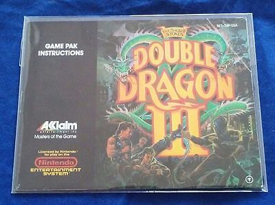 Double Dragon III. INSTRUCTION BOOKLET MANUAL ONLY. NO GAME