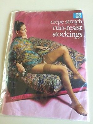 Vintage Run Resist Stockings Size Large