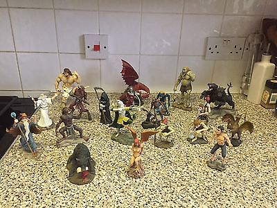 A collection of 20 hand painted mythical figurines (fragile)