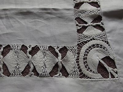 vintage handmade tenerife lace table cover