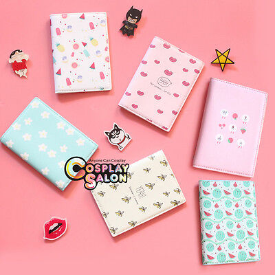 Fruit Printing Passport Holder Cover Protector Case Cover Travel Wallet Card