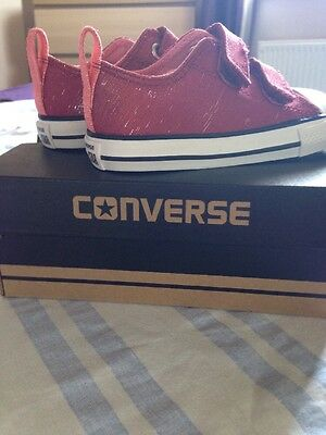 New Girls Converse Trainers Infant Uk 7