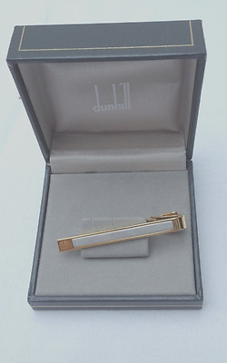 Dunhill gold plated tie clip bar