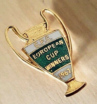 Vintage FC CELTIC GLASGOW Football Club EUROPEAN Cup 1967 Badge