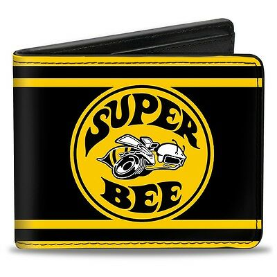 Leather style PU wallet Dodge Super Bee logo B Body Coronet - great gift!