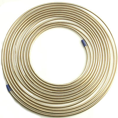 25ft x Malleable Cupro Copper Nickel Brake Petrol Car Pipe Tube Plumbing Gas