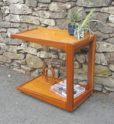 Mid Century Remploy Teak Tea Cocktail Trolley