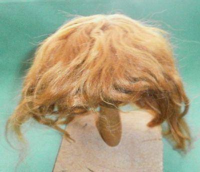 """doll wig mohair strawberry blond, short hair/ 11"""" to 11.5"""""""