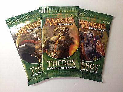3x Theros booster packs MTG Sealed Magic The Gathering Worldwide Shipping