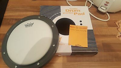"""Remo 8"""" Grey Tunable Drum Practice Pad with Tuning Key (RT-0008-00)"""