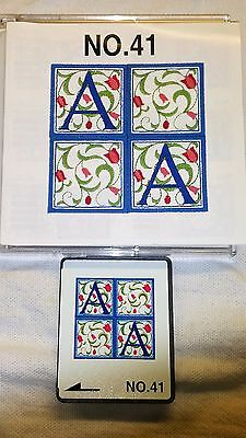 Embroidery Design Card #40 Alphabets Bernina Brother Baby Lock