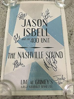 JASON ISBELL Live at GRIMEY'S Nashville TN Sound 2017 Poster Print SIGNED