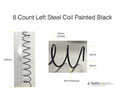 Vending machine coils / springs 8 count spiral left