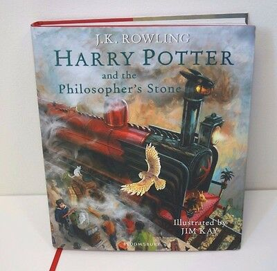 Large Harry Potter And The Philosophers Stone Illustrated Version Hardback