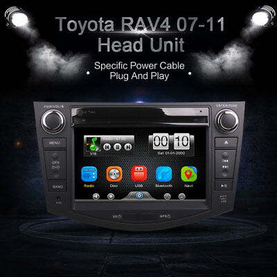 Car In Dash DVD Video Player Radio BT Head Unit Stereos for Toyota RAV4 07-11