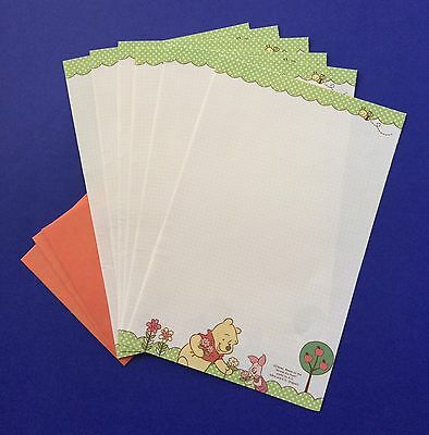 Winnie The Pooh Letter Writing Set /Note Paper & Envelopes