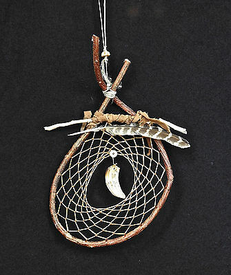 Dreamcatcher #1249- Genuine Boar's Tooth- Tribal Art