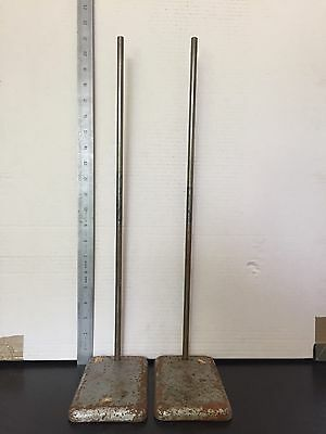 Pair of old Retort Stands, 20 inch tall