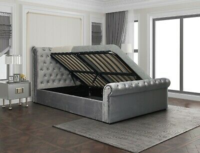2017 Newark Grey Fabric Electric TV Bed in 4ft6 Double and 5ft KingSize