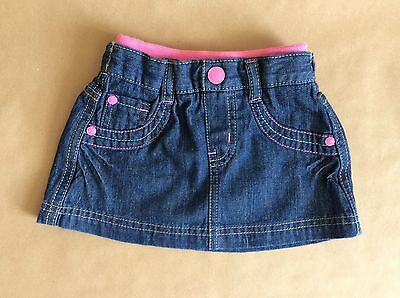 MOTHERCARE BNWT Dark Blue Denim Skirt Baby Kids 6-9 Months