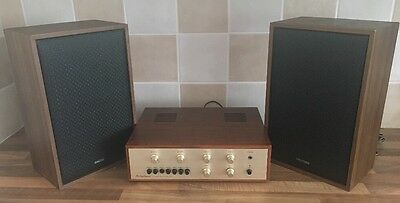 Vintage Ortophonic Integrated Solid State Stereo Amplifier & Waltham Speakers
