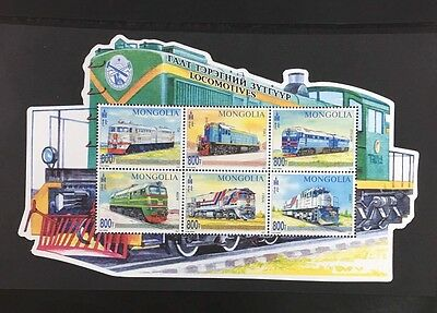 "Mongolia 2017  new stamps "" Locomotives"""