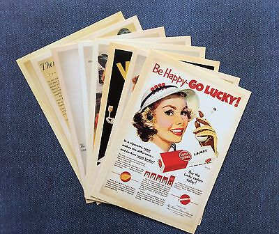 Retro Vintage Style Post Cards /note Card/ Scrapbooking Journal 1950's 1960's