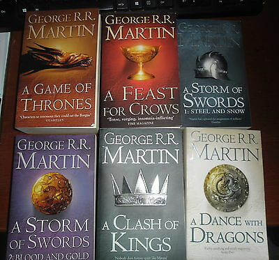 Game Of Thrones Books 1 to 5 plus A Knight of the Seven Kingdoms